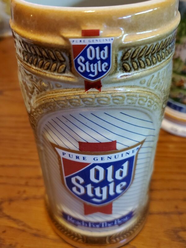 old style beer stein 1989 chicago