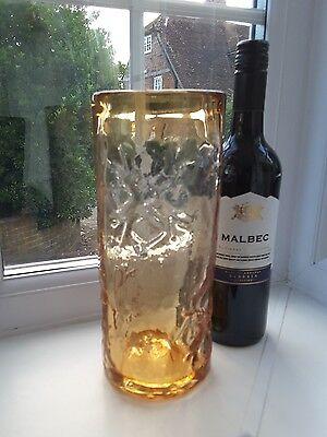 Wedgwood 'Snowflake' topaz  art glass vase design by  Ronald Stennett Willson.