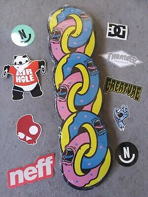 Rare Santa Cruz x Odd Future Screaming Hand Donut Skateboard Cruiser w STICKERS
