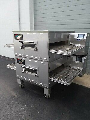 Middleby Marshall Wow Ps740g Double Deck Conveyor Pizza Oven Belt Width 32