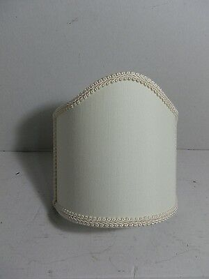 Fan Parchment Small fan in fabric with borders ivory-white cm 14 wall