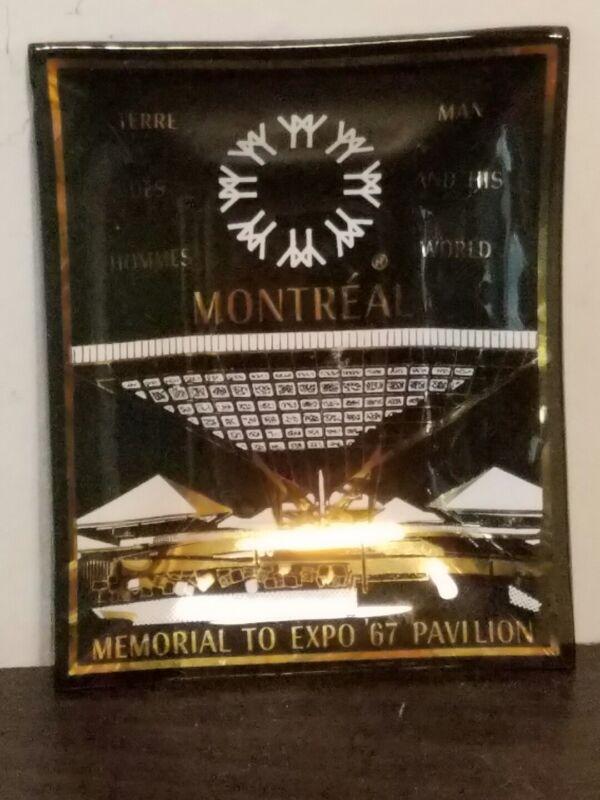 Memorial to Montreal Expo 67 Souvenir Glass Tray