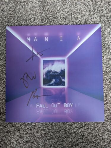 Fallout Boy MANIA Cover Art Poster Signed Authentic