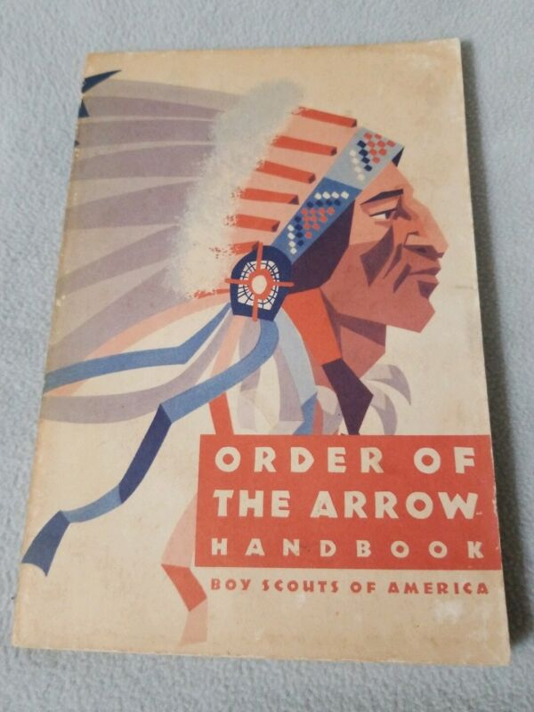 Vintage 1970 Printing Order of the Arrow Handbook Boy Scouts of America Indian