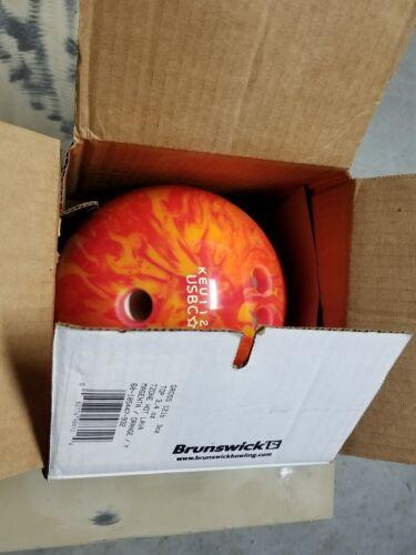 Brunswick Tzone Polyester Bowling Ball, Hot Lava, 12lbs