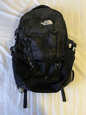 The North Face Borealis Men's Backpack, black camo/vintage white