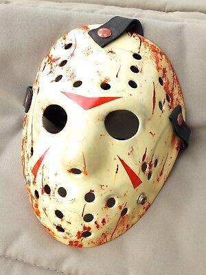 Freitag der 13. Jason Vorhees HOCKEY Halloween Horror MASKE Kostüm NEU *RARITÄT*