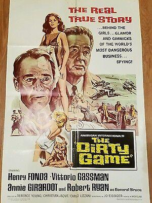 The Grungy Game Henry Fonda 1966 Original Movie Poster Vintage