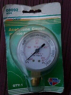 2 Welding Gauge 0-400 Lbs. Acetylene - New In Package - 08092 Wdg - 14 18 Npt