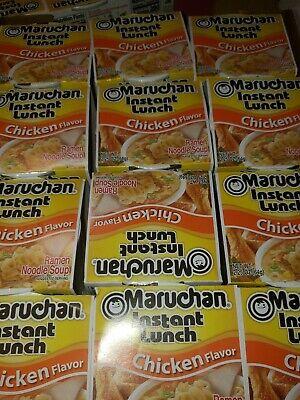 Maruchan Instant Lunch Cup 12 Count Ramen Noodles Chicken Flavor. -