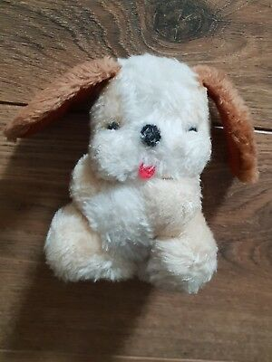 Small Vintage Dog Plush Teddy Soft Toy