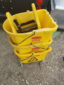 Yellow Rubbermaid Mop Pails $25.00