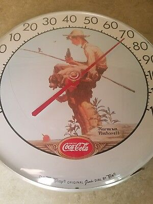"Vintage JUMBO  COCA:COLA 12"" THERMOMETER ADVERTISING SIGN 12""INCHES"