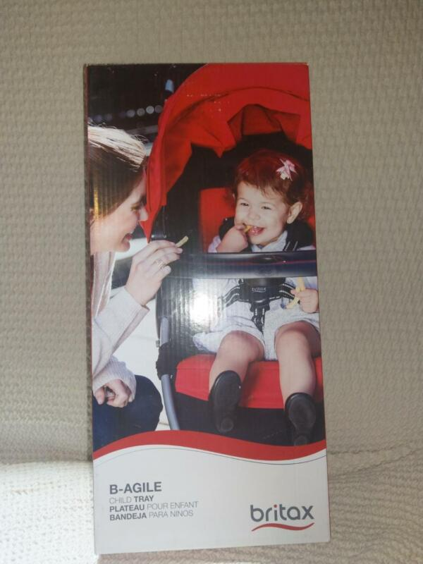 Britax Child Tray for Single B-Agile, B-Free and Pathway Strollers, Black NIB