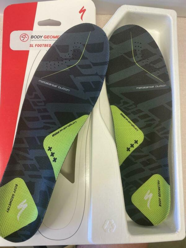 NEW Specialized Body Geometry SL bicycle shoe FOOTBED GREEN