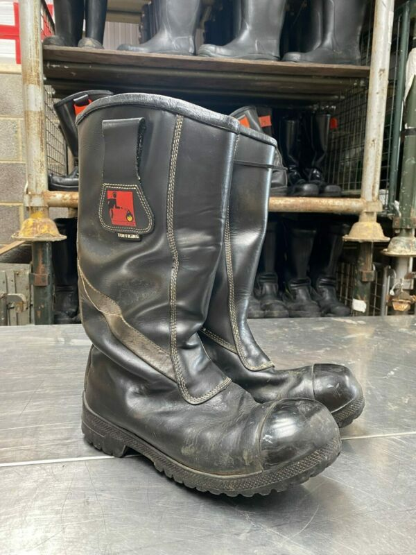 Tuffking Ex Fire & Rescue Firefighter Fire Boots Safety Leather Rigger Boot -...
