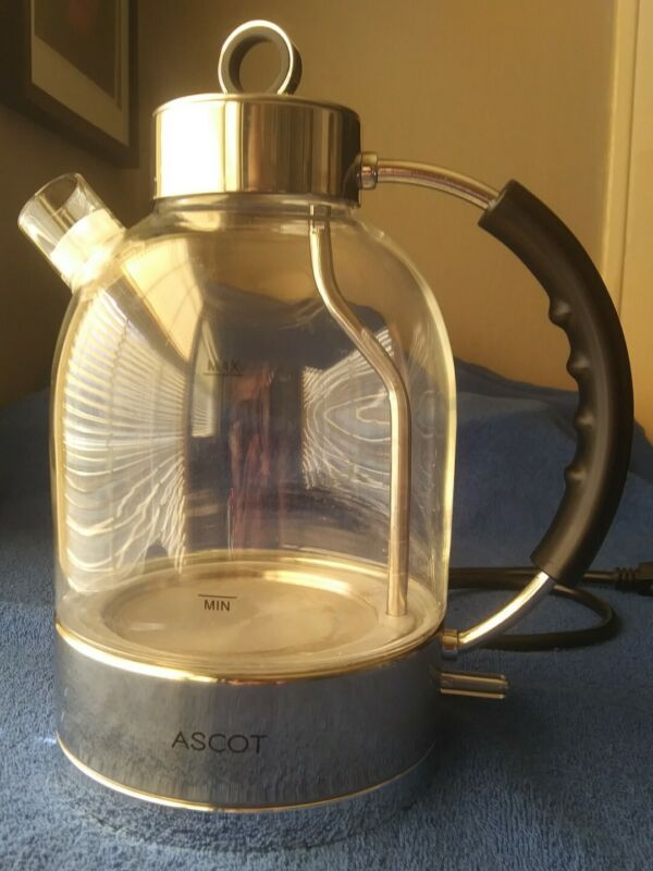 ASCOT WISH BOTTLE~ Electric Stainless Steel Glass Tea or Hot Water Kettle 10 cup
