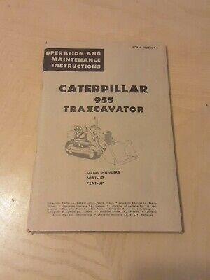 Caterpillar 955 Traxcavator Operation Maintenance Instructions 60a1-up72a1-up