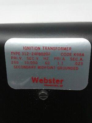 Webster Ignition Transformer 312-24fb0202 New