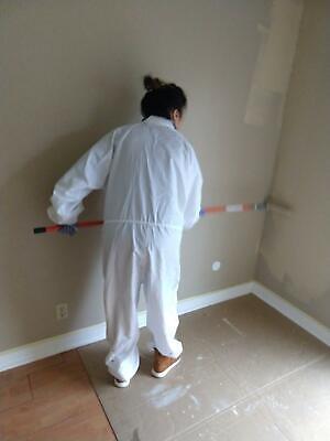 Environmental Reusable Washable Paint Suit Unisex Zip Up Closure