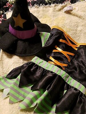 Funny Small Dog Halloween Costumes (Small Sm Dog Halloween Costume Witch with funny hat)