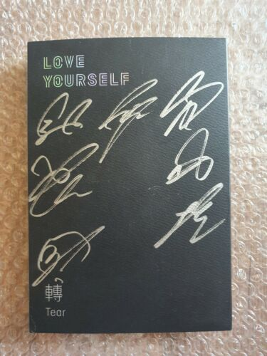 BTS BANGTAN BOYS Love Yourself Tears Album Promo Autographed Hand Signed
