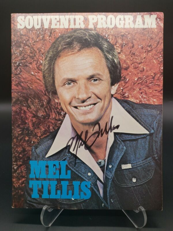 1970s Hee Haw MEL TILLIS HAND SIGNED Concert Souvenir Program and Ticket