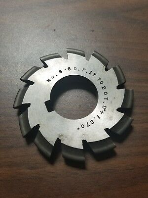 Used Bs No. 6-8dp Involute Gear Cutter Hs 17-20t .270 Bore 1d-1143-y1