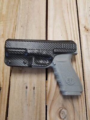 Concealment Holster - Concealment Fits Glock 20, 21 Black Carbon Fiber Kydex holster IWB right