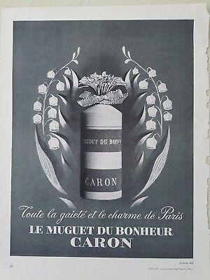 1952 Caron Le Muguet Du Bonheur Frasco de Perfume Lirio los Valles...