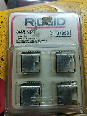 Ridgid 37830 34 Npt Pipe Threading Dies