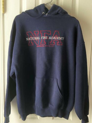 NATIONAL FIRE ACADEMY FULL FRONT EMBROIDERED HOODIE - SIZE XL