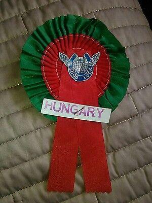 HUNGARY FOOTBALL  ROSETTE V ENGLAND 25/5/1978.