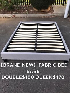 Bran new in box fabric bed base double$150queen$170 easy to pick up