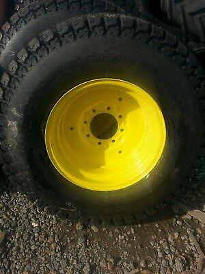 One New 411400x20 41 1400 20 R3 Turf Tire On John Deere Wheel New
