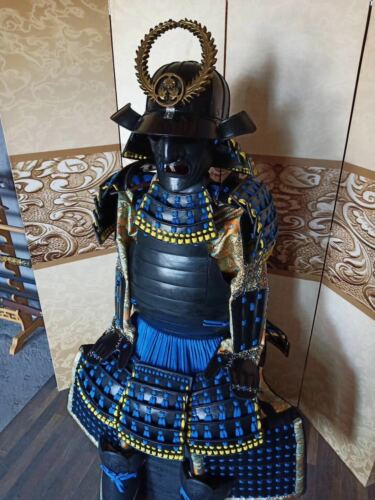 Replica of Wearable Japanese Samurai Armor Yoroi Life Size Suit Hand Made