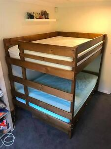 Bunkers Double Bunk Double bed with drawers + mattresses - As New Bellevue Hill Eastern Suburbs Preview