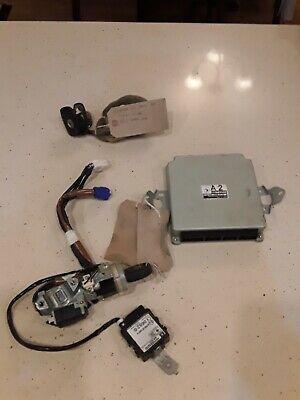 SUBARU FORESTER SG X AUTOMATIC ECU LOCK SET IGNITION BARREL TRANSPONDER  L5