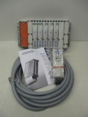 Festo Vmpa-kms2 Manifold Block W Solenoids Connection Cable New