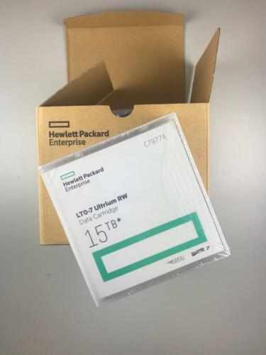 Brand New- HP/ HPE LTO-7 Tape (5 PACK) C7977A Backup Cartridge 6TB/15TB