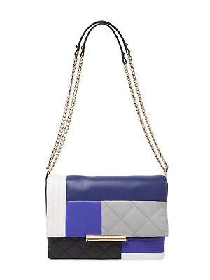 Kate Spade New York Emerson Place Lenia Patchwork Leather Shoulder Bag, Blue