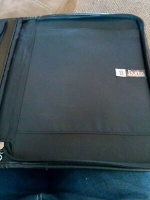 Professional Zippered Portfolio Binder Leather Folder Business Notepad Holder