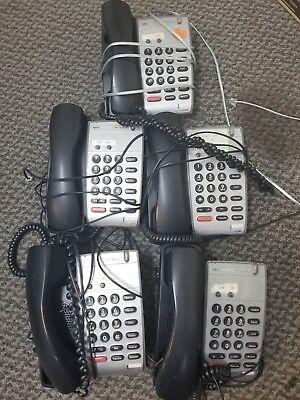 Nec Dtr-2dt-1 Telephone Black Lot Of 5 Functional