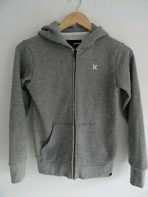 Hurley Womens grey zip up hoodie. Size M