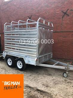 8X5 TANDEM GALVANISED STOCK CRATE TRAILER 2800GVM Dandenong Greater Dandenong Preview