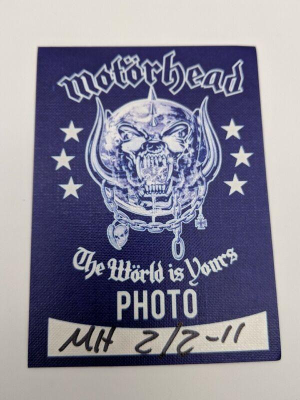 MOTORHEAD Backstage Pass 2011 World Tour Unused Satin LEMMY Photo VIP