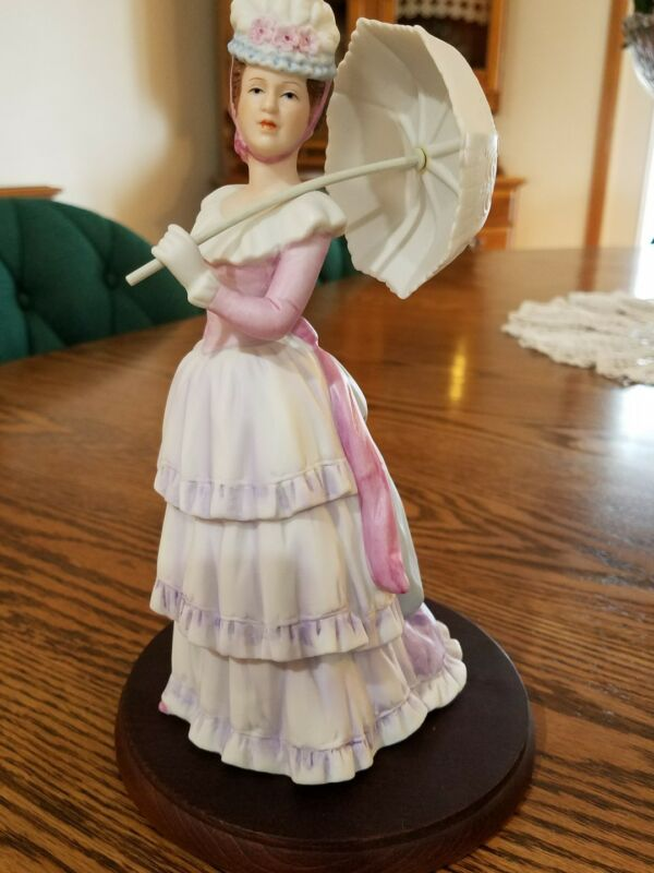 "Vintage! Very Rare! Home Interior ""Elegant Parasol  Lady Figurine"""