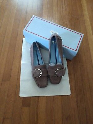 """Frances Valentine by Kate Spade """"TEDDY MOC/ BUCKLE SWEDE""""- COLOR=stone.  Size 7"""