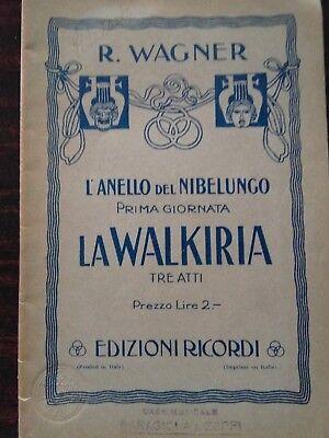 """La Walkiria"" di R. Wagner- libretto d'Opera segunda mano  Embacar hacia Spain"