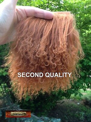 M00731 MOREZMORE Hair Tibetan Lamb Remnants SILVER GREY Hair Doll Baby Wig